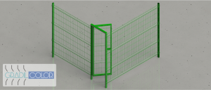 10 - Portao de acesso com trave Superior gradil