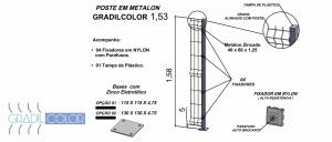 postes 40x60x153