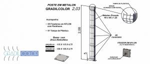postes 40x60x203